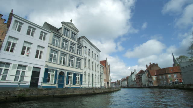 Along Canal in Bruges, Belgium