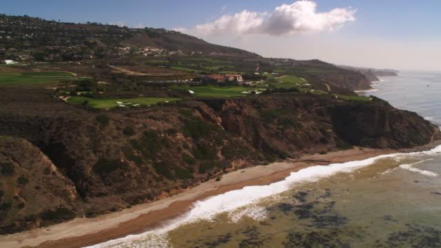 along cliffs on the southern california coast - artbeats 個影片檔及 b 捲影像