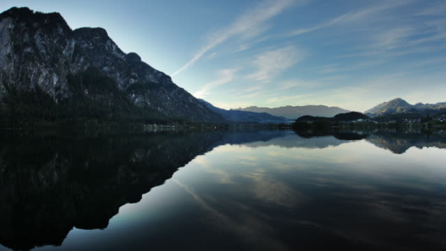 hyperlapse along lake hallstatt 7a - see stock-videos und b-roll-filmmaterial