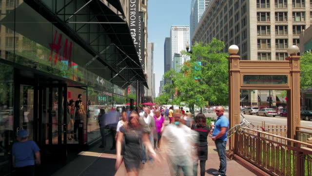 hyperlapse along state street - 芝加哥市 個影片檔及 b 捲影像