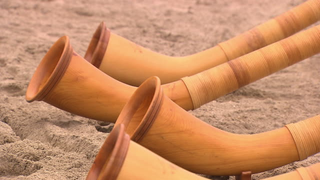 alp horn - five objects stock videos and b-roll footage