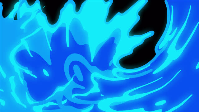 canale alfa (trasparente), animazione di transizione liquida di cartoni animati disegnati a mano 4k, anime 2d, manga, flash fx, elementi comici, backgorund, pre-renderizzati, goccia, inchiostro, pennello, acqua, ideale per sviluppatori di giochi, film, car - splashing video stock e b–roll