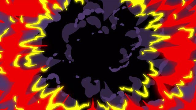 アルファ(透明)チャンネル、4k手描き漫画の液体遷移アニメーション、2dアニメ、マンガ、フラッシュfx、コミック要素、バックゴーン、プリレンダリング、ドロップ、インク、ブラシ、水、� - 漫画点の映像素材/bロール