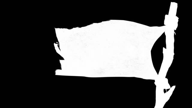同じシリーズの海賊とウイルスフラグのためのアルファチャンネル - 旗棒点の映像素材/bロール