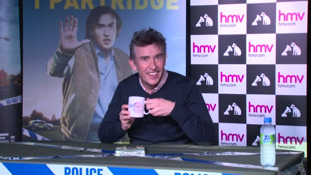 alpha papa' dvd signing at hmv, oxford street on december 09, 2013 in london, england - steve coogan stock videos & royalty-free footage
