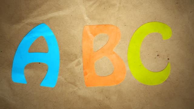 stockvideo's en b-roll-footage met alphabet animation - letter b