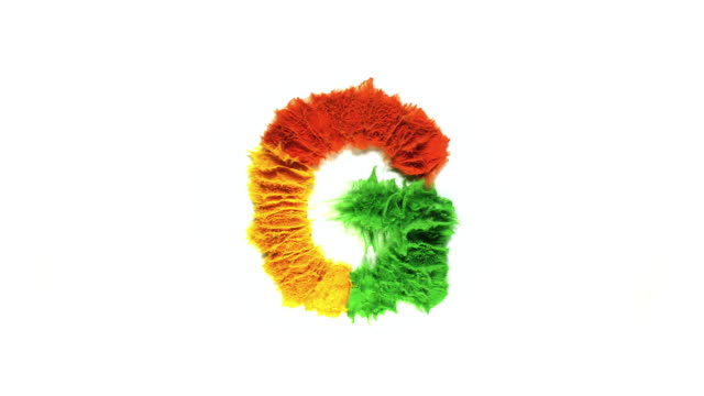 alphabet g created with colorful powder exploding in super slow motion and closeup on white background - capital letter stock videos & royalty-free footage
