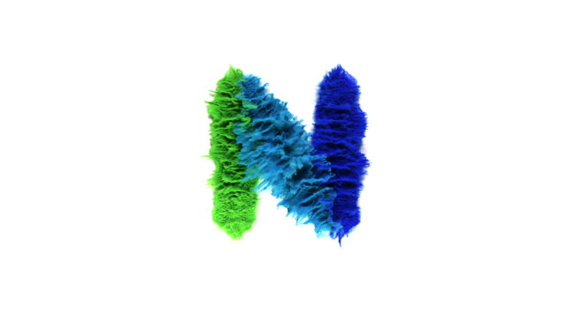 vidéos et rushes de alphabet n created with colorful powder exploding in super slow motion and closeup on white background - lettre de l'alphabet