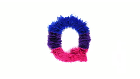 alphabet q created with colorful powder exploding in super slow motion and closeup on white background - single object stock videos & royalty-free footage