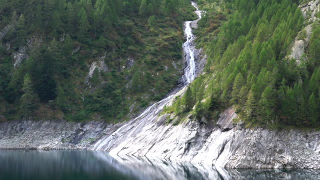 alpine lake in switzerland. - ticino canton stock videos and b-roll footage