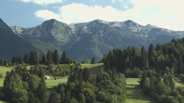 WS HA ZO Alpine meadows Senozeta with Julian Alps in background, Bohinj, Triglav National Park, Slovenia