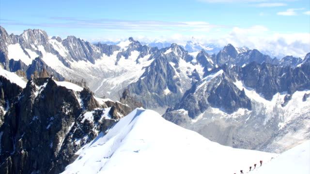 alpine mountains time lapse - mont blanc stock videos & royalty-free footage