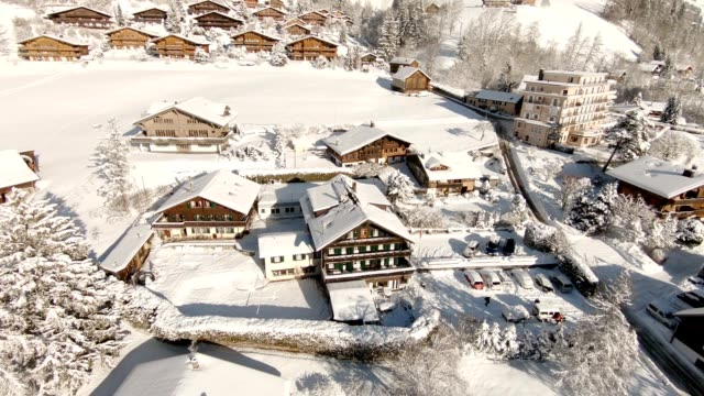 alps in winter - chalet stock videos & royalty-free footage