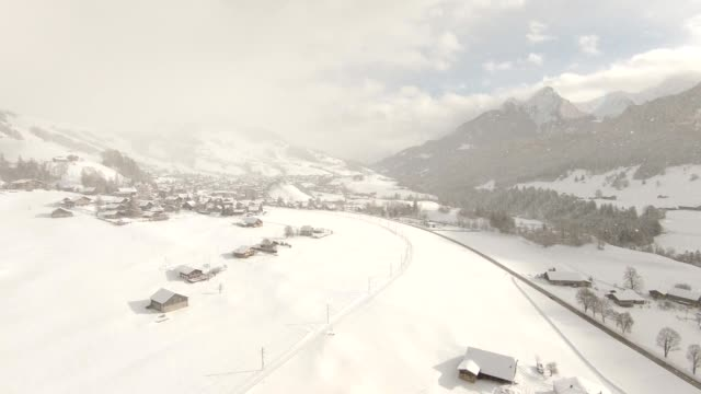 alps in winter - chalet video stock e b–roll