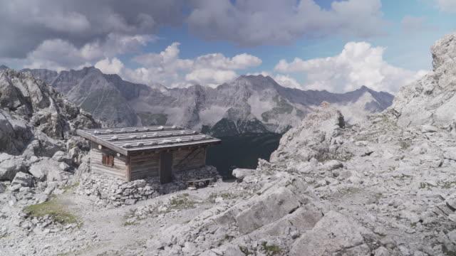 alps of austria in summer, hafelekarspitze-seegrube at karwendel mountain,innsbruck austria - hut stock videos & royalty-free footage