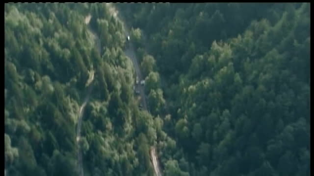 more details of arrested man; lib / tx 6.9.2012 france: rhone-alpes: haute-savoie: air views mountain road on which saad al-hilli, his wife and her... - rhone alpes stock videos & royalty-free footage