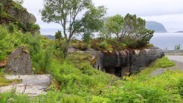 alseund, aksla mountain, bunker from world war ii - bomb shelter stock videos & royalty-free footage