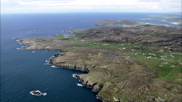 altaheeran -航空写真-アルスター、ドニゴール、アイルランド - アルスター州点の映像素材/bロール
