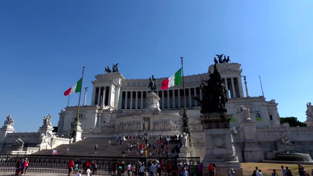 4k: altare della patria monument in rome, driveby - altare della patria stock videos and b-roll footage