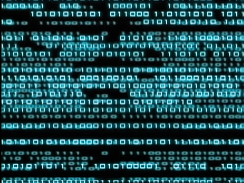cgi 2 alternate fields of binary codes streaming past each other - binary code stock videos & royalty-free footage