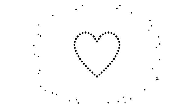 HEART / WOMAN - alternate, pure black dots (LOOP)