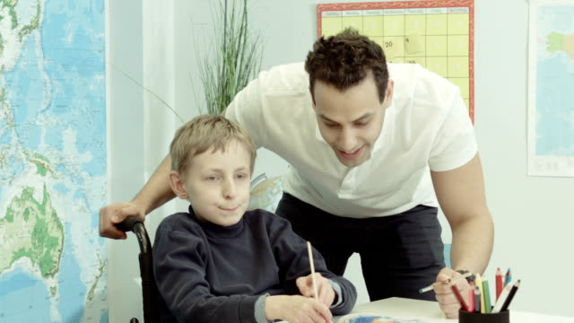 alternative therapy for a child - cerebral palsy stock videos & royalty-free footage
