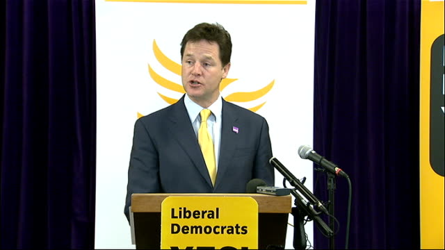 nick clegg speech for 'yes' campaign nick clegg speech sot i have even heard some of my conservative cabinet colleagues making the bizarre claim that... - new age stock videos & royalty-free footage
