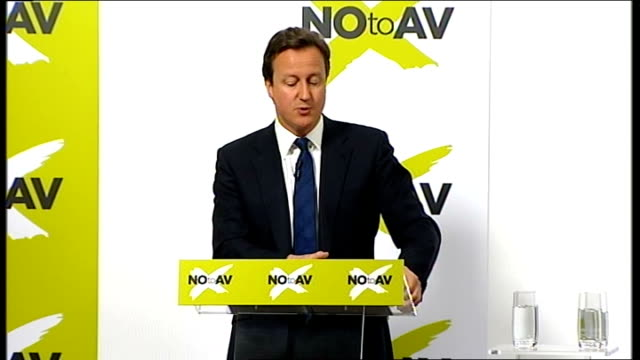 'no' campaign speeches by david cameron and john reid david cameron speech continued sot the next big problem with av is about the pledges... - single rose stock videos & royalty-free footage