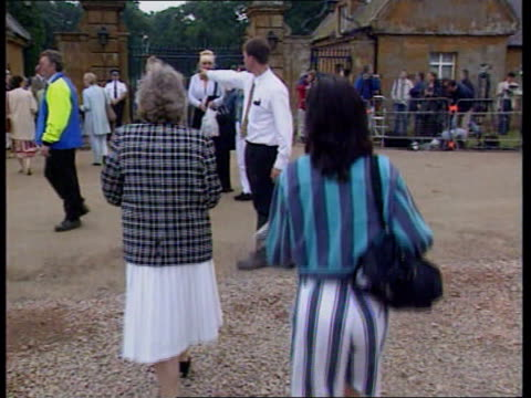althorp opens to public princess of wales althorp opens to public itn england northants althorp ext gates of althorp house opening woman along... - decorative urn stock videos and b-roll footage