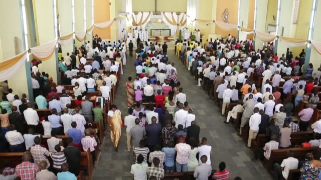 although the majority of the world's 1.3 billion catholics are in forced confinement during easter celebrations, in burundi, churches are filled with... - easter stock videos & royalty-free footage