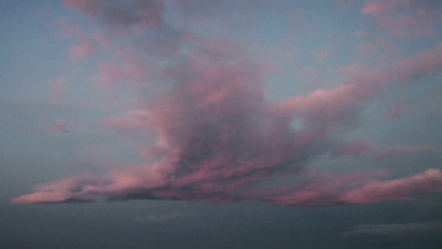 altocumulus at sunrise, timelapse - altocumulus stock videos and b-roll footage