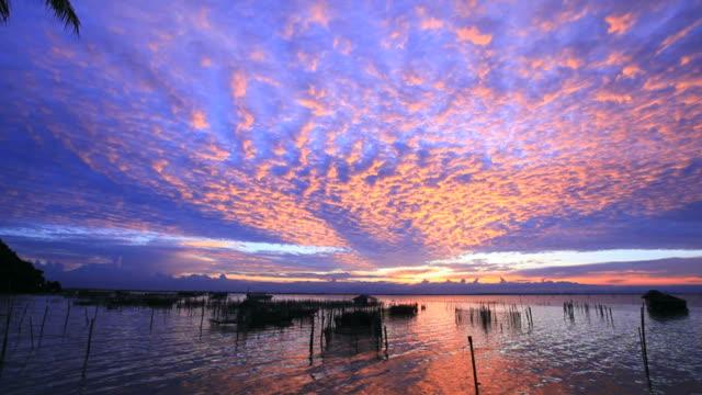 altocumulus cloud at sunset - kameraåkning med kran bildbanksvideor och videomaterial från bakom kulisserna