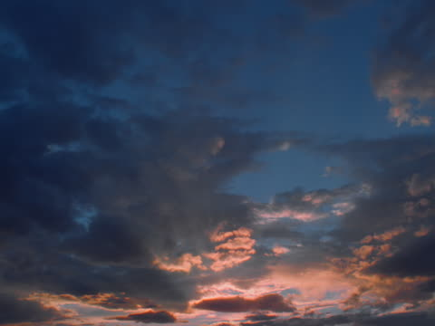 altocumulus clouds at sunset - altocumulus stock videos and b-roll footage