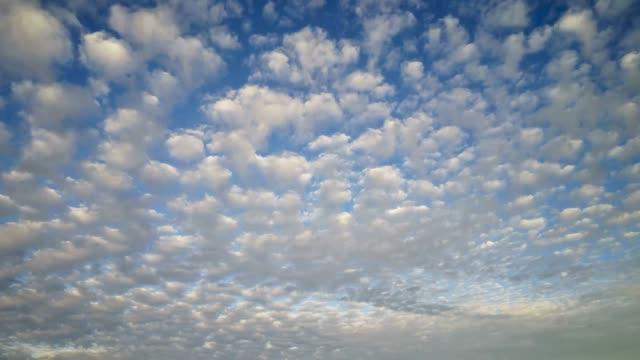 altocumulus clouds time lapse - altocumulus stock videos and b-roll footage