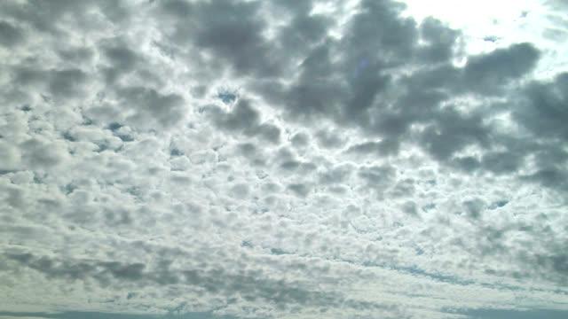 altocumulus clouds, timelapse - altocumulus stock videos and b-roll footage
