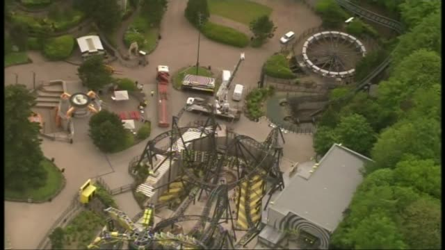 Alton Towers owner fined 5 million pounds over Smiler ride crash LIB / AIR VIEW / AERIAL 'Smiler' rollercoaster