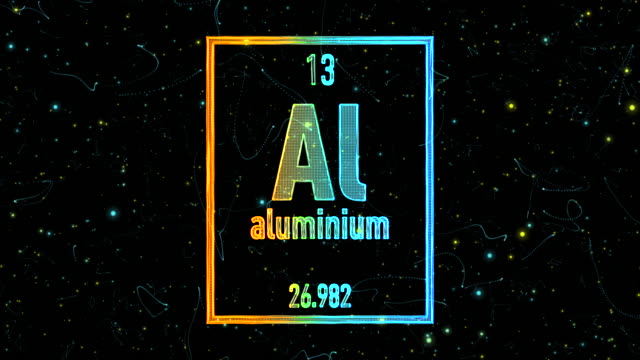 aluminium symbol as in the periodic table - aluminum stock videos and b-roll footage