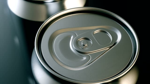Aluminum beverage can production loopable top view
