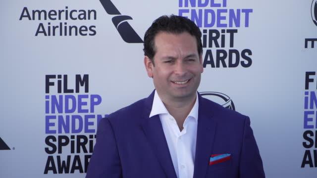 alvaro delgado aparicio at the 2020 film independent spirit awards on february 08, 2020 in santa monica, california. - film independent spirit awards stock videos & royalty-free footage