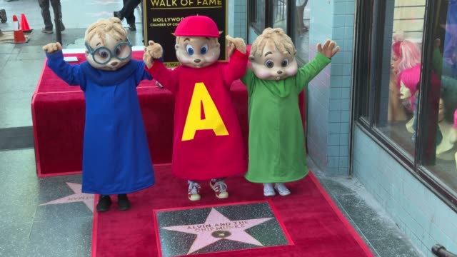 Alvin and the Chipmunks at Alvin and the Chipmunks Honored with a Star on the Hollywood Walk of Fame on March 14 2019 in Hollywood California