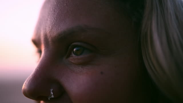i always find peace out here - nose piercing stock videos & royalty-free footage