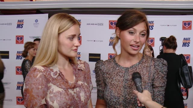 interview aly michalka aj michalka on why they're longtime supporters of the event the fact that they once walked in the event's fashion show at the... - race to erase ms stock videos and b-roll footage