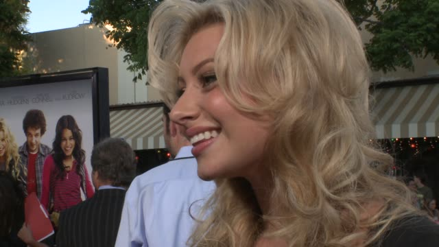 Aly Michalka on how it feels to finally have the movie out at the 'Bandslam' Premiere at Westwood Los Angeles CA