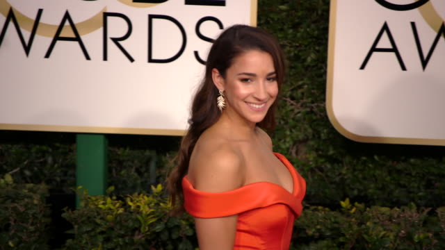 aly raisman at the 74th annual golden globe awards arrivals at the beverly hilton hotel on january 08 2017 in beverly hills california 4k - ビバリーヒルトンホテル点の映像素材/bロール
