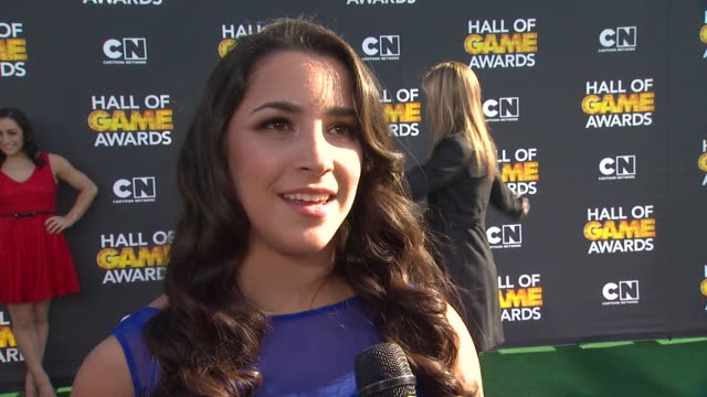 INTERVIEW Aly Raisman on the young fans on what she loves about this award show on being nominated and on who she's excited to see tonight at Cartoon...