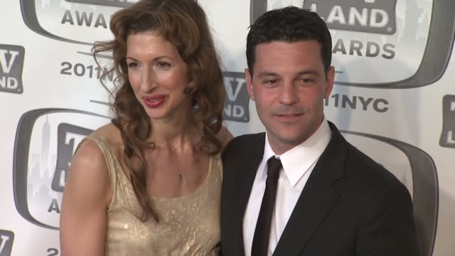 Alysia Reiner and David Alan Basche at the 9th Annual TV Land Awards Arrivals at New York NY
