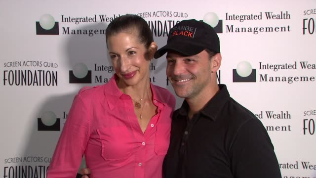 Alysia Reiner and David Basche at Screen Actors Guild Foundation Inaugural New York Golf Classic at Trump National Golf Club Westchester on October...