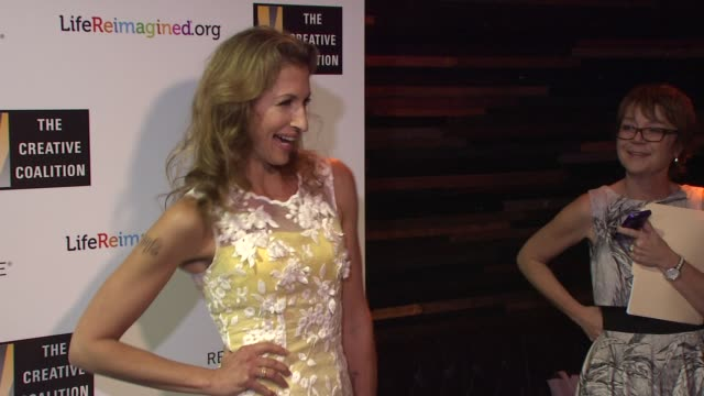Alysia Reiner at The Creative Coalition's Spotlight Awards Dinner Gala at Marquee on October 14 2014 in New York City