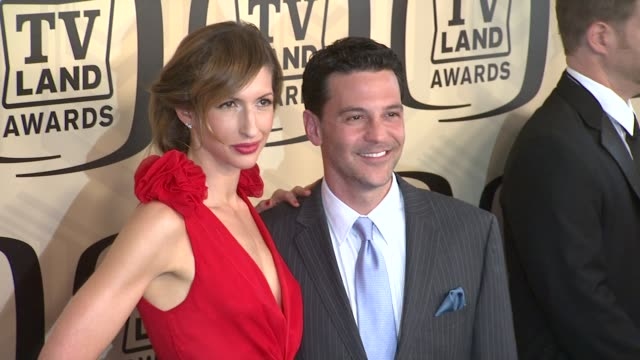 alysia reiner david alan basche at tv land awards 10th anniversary arrivals at lexington avenue armory on april 14 2012 in new york ny - tv land awards stock videos and b-roll footage