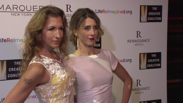 Alysia Reiner Sarah Megan Thomas at The Creative Coalition's Spotlight Awards Dinner Gala at Marquee on October 14 2014 in New York City